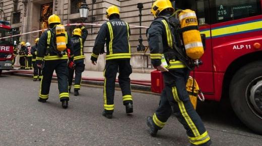 Firefighters in Bradford