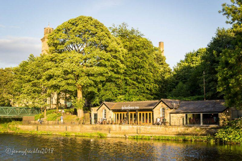 The Boathouse and the River Aire in Saltaire