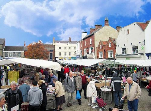 Knaresborough Farmers' Market in North Yorkshire
