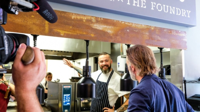 Matt Healy x The Foundry during BBC filming with Marcus Wareing 3