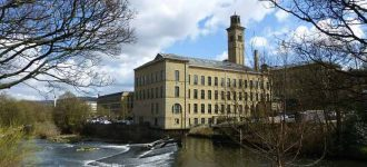 Saltaire walk in Yorkshire