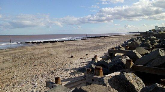 hornsea beach in yorkshire
