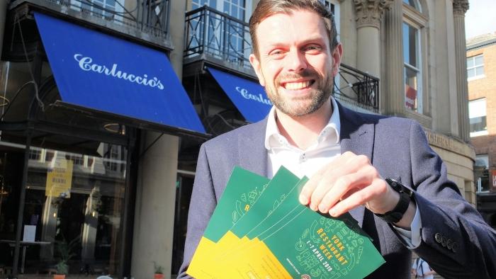 Chris Bush of York BID launches York Restaurant Week 2019
