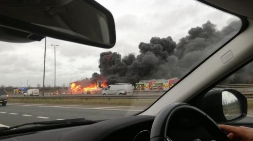 Leeds Truck Fire