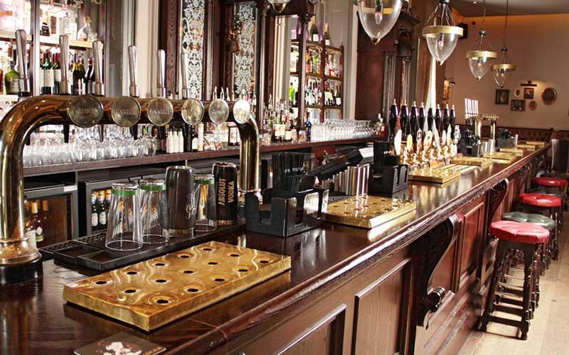 Inside the Fat Badger Pub in Harrogate