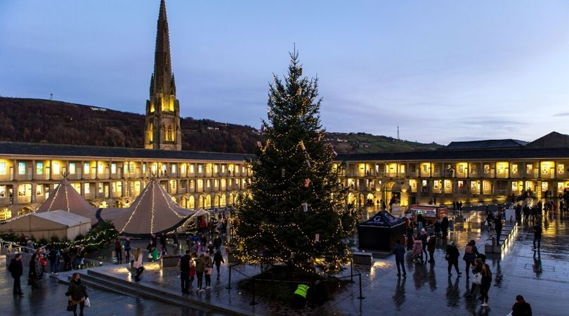 The piece hall christmas fair