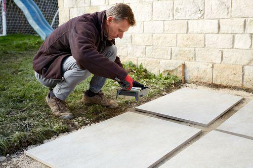 how to lay outdoor porcelain tiles